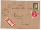 V576 - URBACH - 1944 - Recommandé  Au Tarif 42 Pfennig - FRELAND - - Marcophilie (Lettres)