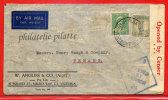 AUSTRALIE LETTRE CENSUREE DE 1941 DE MELBOURNE POUR PENANG MALAISIE COVER - 1937-52 George VI