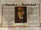 AFFICHE -PAROLES DU MARECHAL EN COULEUR 47/31 CM VOIR DETAIL+SCAN - Riviste & Giornali