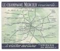 Epernay - Dépliant Publicitaire Qui S'ouvre Le Champagne Mercier Vous Invite à Visiter Ses Caves - Epernay