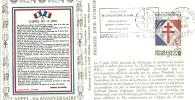 """CDG A07 Enveloppe  """" Cinquantenaire De L'appel Du 18 Juin 1940 """" Chateau Gontier Le 18/6/1990"""