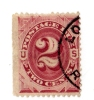 USA Postage Due Stamp - 1884-89 - Scott J16 $2 Red-brown-used( 3887) - 1847-99 Emissions Générales