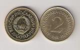 YUGOSLAVIA  2 DINARA 1984.  XF- - Joegoslavië