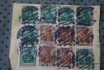 DEUTSCHE REICH 24-4-1921-  12 TIMBRES SUR FRAGMENT  DE KARLSHUE COVER  MARCOPHILIA - Deutschland