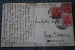 DEUTSCHE REICH 1920  DE KARLSRUHE     COVER  MARCOPHILIA  POUR. FIENGEN   SUR CPA GEORG LEBRECHT  AM PARKTOR - Deutschland
