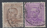 1928 REGNO USATO EFFIGIE 2 VALORI -  RR9559 - Gebraucht