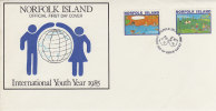Norfolk Island-1985 International Youth Year  FDC - Norfolk Island