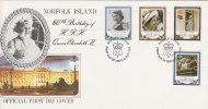 Norfolk Island-1986 60th Anniversary Queen Elizabeth FDC - Norfolk Island