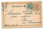 Correspondent Card - Traveled 1892th - Stamped Stationery