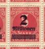 Teilbogen Mit Schöner Abart / 66.ste Bfm Mit Zerbrechen Kopf / Nr 312 /  60 Bfm Mit Gummi ** - Germany