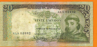 # PORTUGAL 20 Escudos 26/5/1964 Circulé - Portugal