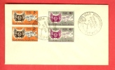 SOUTH AFRICA 1954 FDC Orange Free State 237-238 With Address - South Africa (...-1961)