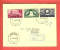 SOUTH AFRICA 1949 FDC Voortrekkers 217-219 With Address - South Africa (...-1961)