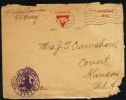1919 USA Military, Feldpost, Fieldpost.  American Y.M.C.A. Sent To Kansas. Censorship. (Q10169) - Etats-Unis
