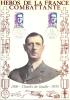 """Résistance 52 """" Héros De La France Combattante   Charles De Gaulle """"   Encart Illustré"""