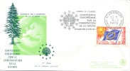 France 1970 Europa Council Cover With Special Cancel European Conference For Nature Conservation - Europäischer Gedanke