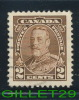 CANADA STAMP - KING GEORGE V  PICTORIAL ISSUE - SCOTT No 218, 0,02ç, BROWN,1935 - USED - - 1911-1935 Règne De George V