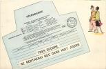 TELEGRAMME TRES OCCUPE NE RENTRERAI QUE DANS HUIT JOURS - Postal Services