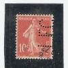Perforé/perfin/lochung France No 138 L.F.C.  Les Fils Charvet - Gezähnt (Perforiert/Gezähnt)