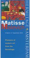Brochure About The Exhibition Matisse To Malevich At Hermitage Amsterdam In 2010 - Schone Kunsten