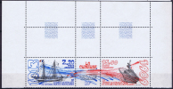 TAAF 1989 Maury A105-106 Triptyue Neuf**/ MNH, Coin De Feuille - Ongebruikt