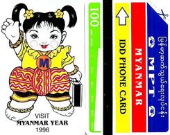 BURMA 100 UNITS GIRL WOMAN 1996 MINT  READ DESCRIPTION CAREFULLY !! - Myanmar