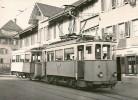STEFFISBURG > Doppeltram An Haltestelle Steffisburg-Dorf 1956 ++++ S/w Foto Karte - BE Berne
