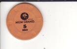 Macao Casino Token 5 MCD  MGM Casino - Casino