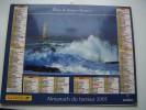 Almanach Du Facteur  LA POSTE  2001 - Phare De Kéréon L Esterel Corniche D Or - VOSGES N°88 - OBERTHUR - Kalender