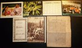 7 CALENDRIERS : 1890 AUTOMOBILE COURRIER DE FOURMIES CALENDRIER DU SOLDAT FRANCAIS CALENDRIER SPIRITUEL ... - Calendars
