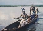 Afrique,ouest,francophone,cote D'ivoire,1964,abidjan,golfe De Guinée,lagune,ebrié,région Des Lagunes,femme Pecheur,nue - Côte-d'Ivoire