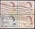 CANADA 1967-72 QE2 6c Plus 1c X3 From Booklet - Used [E1557] - Oblitérés