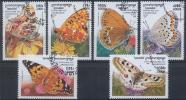 Cambodge - Papillons 1613/1618 Oblit. - Butterflies