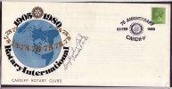 COV064 GB 1980 Rotary Intl 75th Anniv. Cardiff Club, Signed By President Of Club - Unclassified