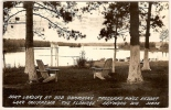 USA Carte Photo RPPC Boat Landing At Bob Cammack's Treeland Pines Resort Lake Chippewa The Flowage Havward Wis - Etats-Unis
