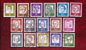 GERMANY 1961 Cancelled Stamp(s) Definitives 347-362 - [7] Federal Republic
