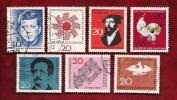 GERMANY 1964 Cancelled Stamp(s) Mainly Single Comm. (7 Stamps) 412=461 - [7] Federal Republic