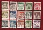 GERMANY 1966 Cancelled Stamp(s)  Definitives Architectural 489-503 - [7] Federal Republic