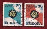 GERMANY 1967 Cancelled Stamp(s)  Europa 533-534 - [7] Federal Republic