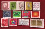 GERMANY 1969  Cancelled Stamp(s)  Mainly Single Comm. 576=607 (13 Stamps) - [7] Federal Republic