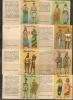 CANARIAS  - Cigarettes La MASCOTA - HISTORIA DEL TRAJE  - 8 TOBACCO CARDS - Each Card Is A Booklet - Collections & Lots