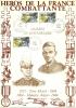 """Héros 109 """" Tom MOREL  Et Maurice ANJOT - LES CLIERES  """" Encart Illustré Et Oblitéré Sur Soie"""