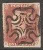 Grande-Bretagne (GB) Victoria 1841 - Penny Rouge Planche 23 HG - 1840-1901 (Victoria)