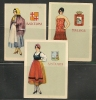 CANARIAS - Cigarrillos LA MASCOTA - TRAJES REGIONALES - 3 CARDS - Collections & Lots