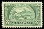 1950 USA Bankers Association Stamp Sc#987 History Factory Farm House Coin - Etats-Unis