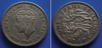 CYPRUS  1 Shilling  1947 - GEORGIUS VI - Zypern