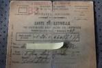Carte Trimestrielle De Contrôle Des Jours De Chômage 1949 Ministère Du Travail Et De La Sécurité Sociale Paris XVII Prof - Mapas