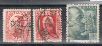 Lote 3 Sellos Perforado Comercial S.J.P.. De La Coruña - 1931-50 Used