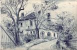 A - N.Ö. - Aggsbach - Dorf, Hammerschmiede Signiert Santner 1947 - Zeichnungen