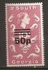 Falkland Georgie Du Sud 1971 N° 38a ** Surchargés, Famille Royale, Elisabeth, Planctons, Animaux - Géorgie Du Sud